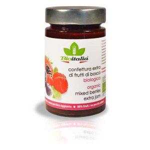 Bioitalia Mixed Berries Extra Jam, ягодный джем, органический джем, органическое варенье, ягодное варенье, конфитюр, купить, киев