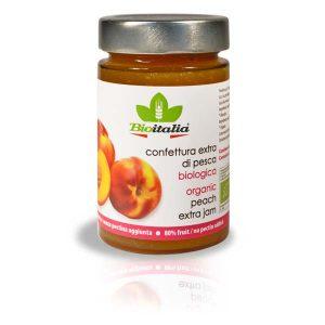 Bioitalia Peach Extra Jam, органический джем, персиковый джем, органическое варенье, персиковое варенье, конфитюр