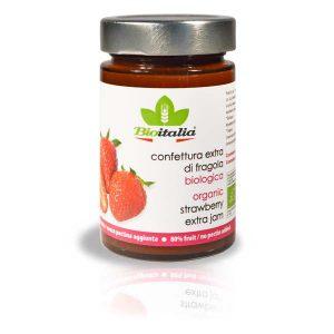 Bioitalia Strawberry Extra Jam, органический джем, клубничный джем, органическое варенье, клубничное варенье, конфитюр, купить, киев