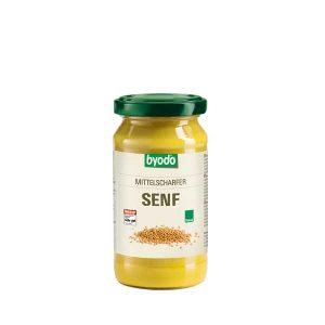 Byodo Medium Hot Mustard, органическая горчица