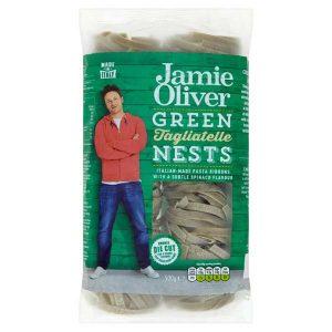 Jamie Oliver Green Tagliatelle Nests, паста, макароны, Джейми Оливер, органические макароны, органическая паста, киев, купить