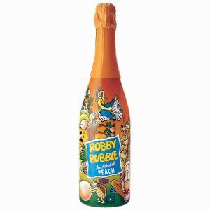 Robby Bubble Peach, детское шампанское, персиковое шампанское, детский напиток, Robby Bubble, безалкогольное шампанское, киев, купить