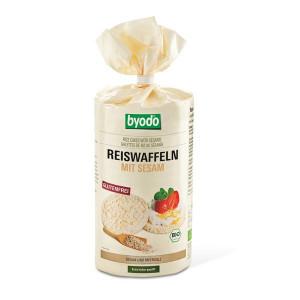 Byodo Reiswafflen mit Sesam, рисовые хлебцы, хлебцы, с кунжутом, без глютена, Украина, купить, органические